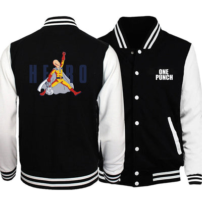 One Punch Man Hero Varsity Jacket - Ikuzo Concept