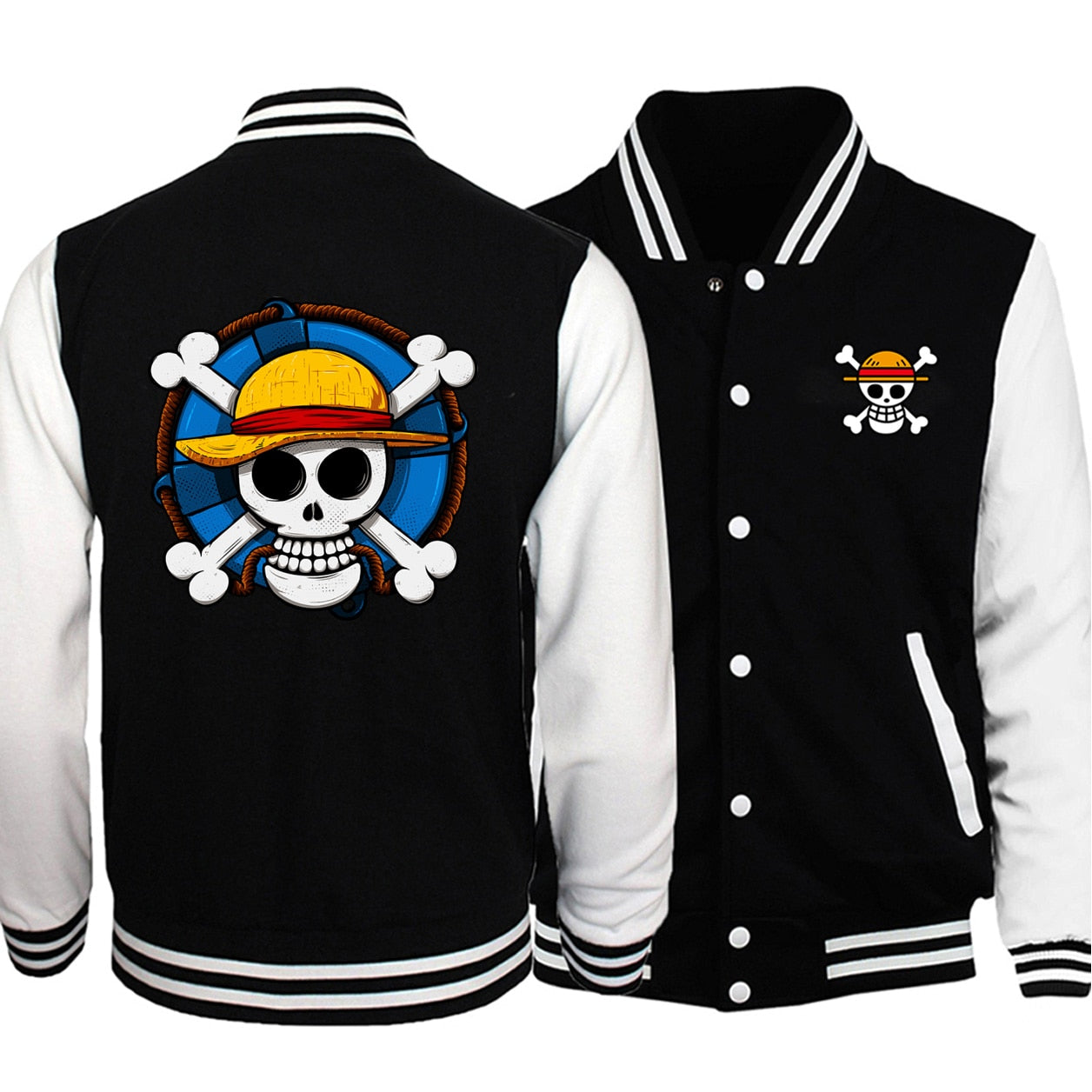 One Piece Straw Hat Varsity Jacket - Ikuzo Concept