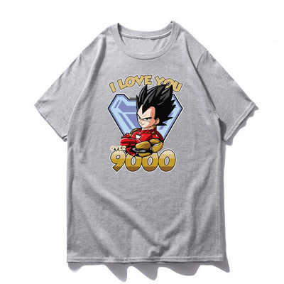 Vegeta I Love You Over 9000 Shirt - Ikuzo Concept