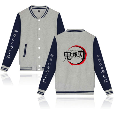 Demon Slayer Logo Varsity Jacket - Ikuzo Concept