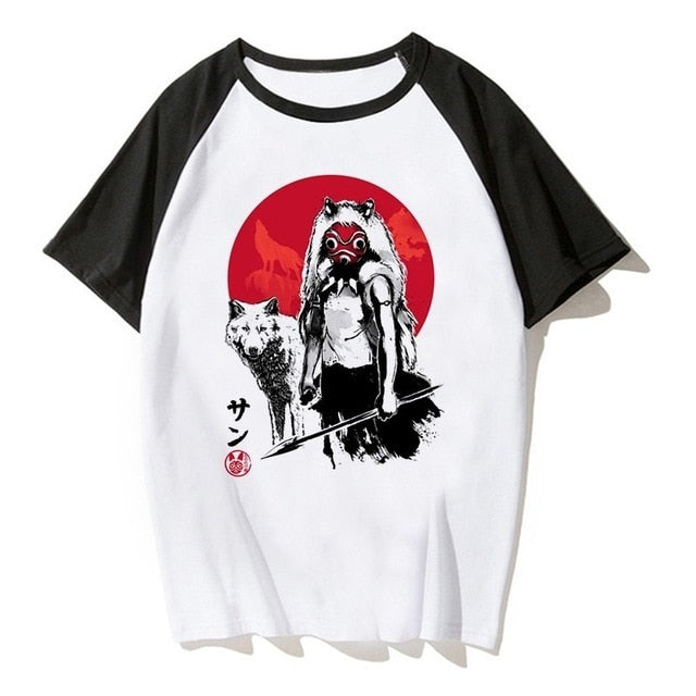 Princess Mononoke Red Sun Shirt - Ikuzo Concept