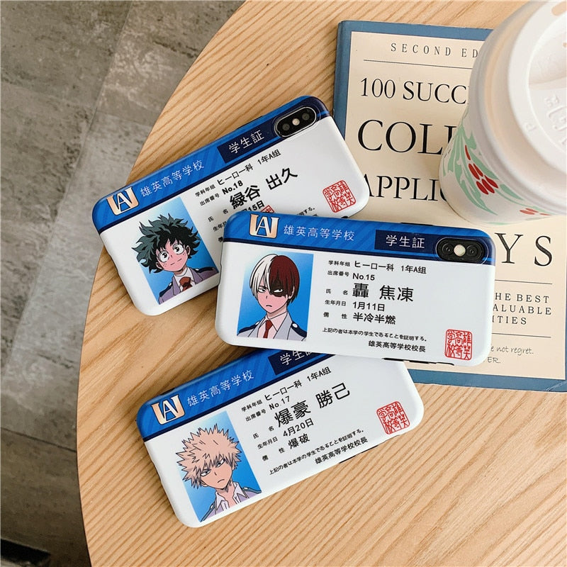 My Hero Academia UA ID Card Phone Case - Ikuzo Concept