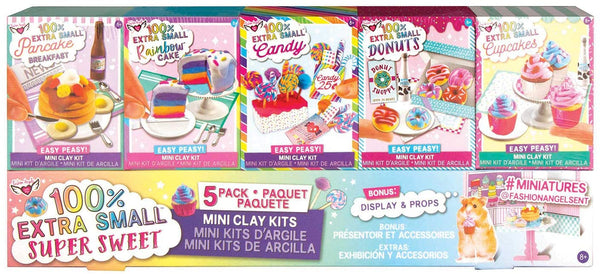 100% Extra Small Sweets Mini Clay 5 Pack