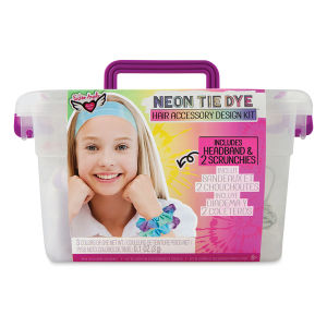 Neon Tie Dye Headband and Scrunchies Design Kit