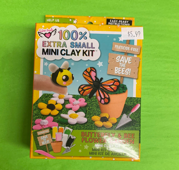 100% Extra Small Mini Clay Kit Butterfly and Bee Flower Garden