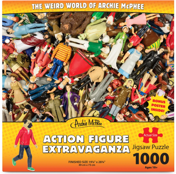 Action Figure Extravaganza 1000 Piece Puzzle