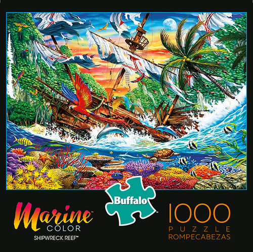 Marine Color Shipwreck Reef 1000 Piece Jigsaw Puzzle