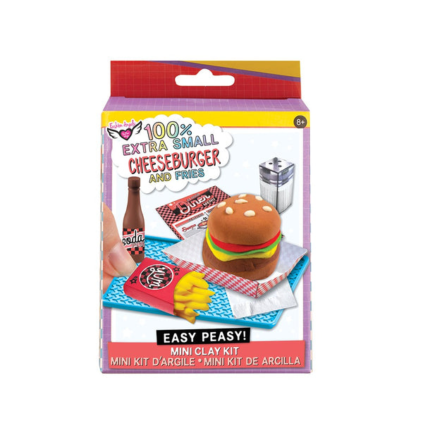100% Extra Small Mini Clay Kit Cheeseburger & Fries