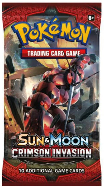 Pokémon Sun And Moon Crimson Invasion Booster Pack