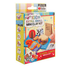100% Extra Small Mini Clay Kit School Lunch