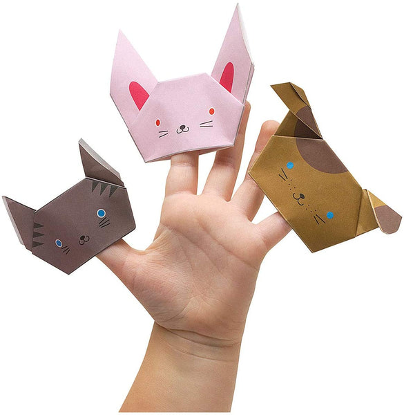 Origami Fold-by-Number Finger Puppets