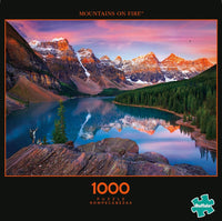 Mountains On Fire 1000-Piece Puzzle