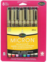 Micron Assorted Pens 8 Pack
