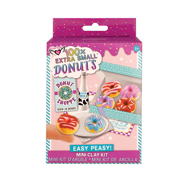 100% Extra Small Mini Clay Kit Donuts