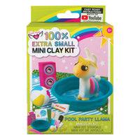 100% Extra Small Mini Clay Kit Pool Party Llama