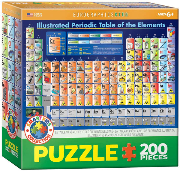 Illustrated Periodic Table of the Elements 200-Piece Puzzle