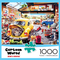 Cartoon World Sam's Garage 1000-Piece Puzzle