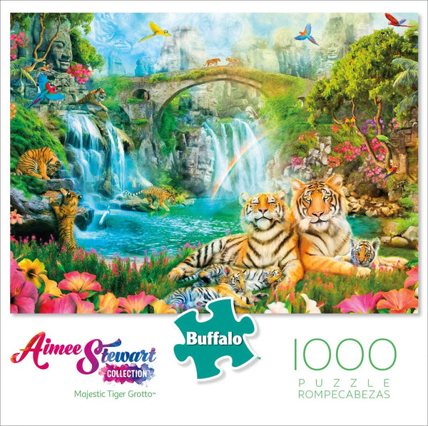 Majestic Tiger Grotto 1000-Piece Puzzle
