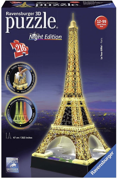 Eiffel Tower Night Edition 216-Piece 3-D Puzzle