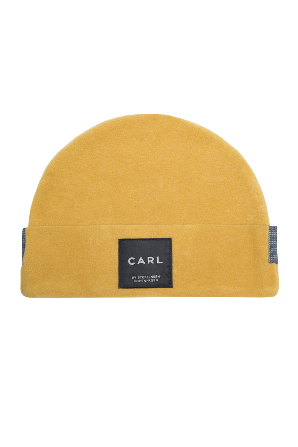 CARL BY STEFFENSEN COPENHAGEN Beanie with double edged in soft fleece - 1008 HAT CURRY 700