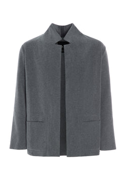 CARL BY STEFFENSEN COPENHAGEN CARDIGAN WITH COLLAR AND POCKETS - 1001C CARDIGANS GREY 905
