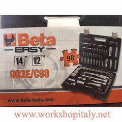 "Set bussole 1/2""  1/4"" Beta Easy Utensili  Beta 903E/C98"