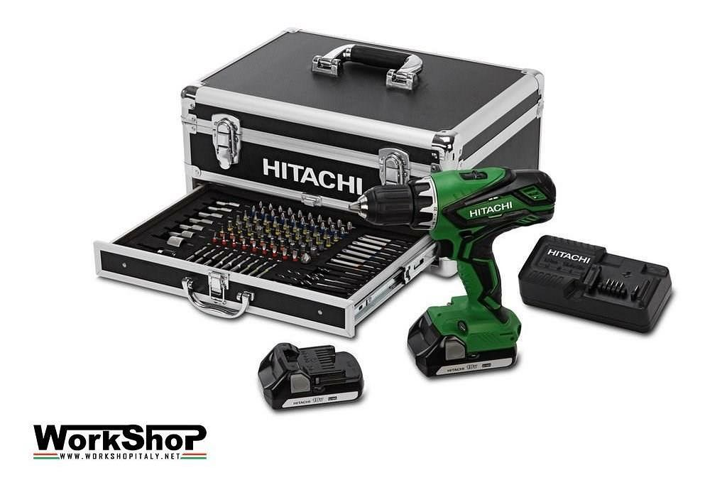 Avvitatore Hitachi art.DV18DJL ALUCASE 2 batterie V.18 Ah 1,5 LITIO