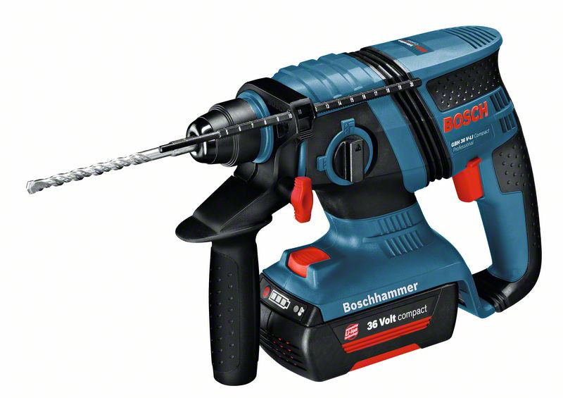 Martello perforatore GBH 36 V-LI Compact  Bosch Professional 3 BATTERIE 2Ah