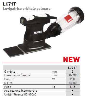 Levigatrice orbitale LC 71T Mini Rupes