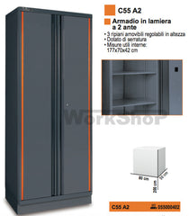 Armadio 2 ante in lamiera Beta C55 A2