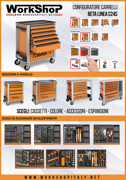 Configuratore carrelli beta c24s work shop italy for Configuratore arredamento