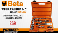 "Set bussole 1/2"" Beta Easy Utensili  Beta 923A-E/C25"