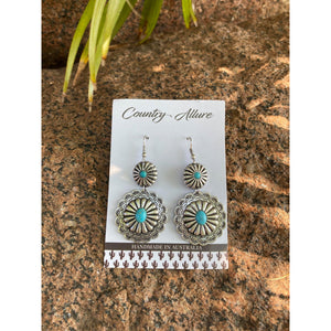 COUNTRY ALLURE TURQUOISE FASHION EARRINGS