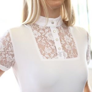 HUNTINGTON COLLEEN KWIK DRY LACE SHOW SHIRT