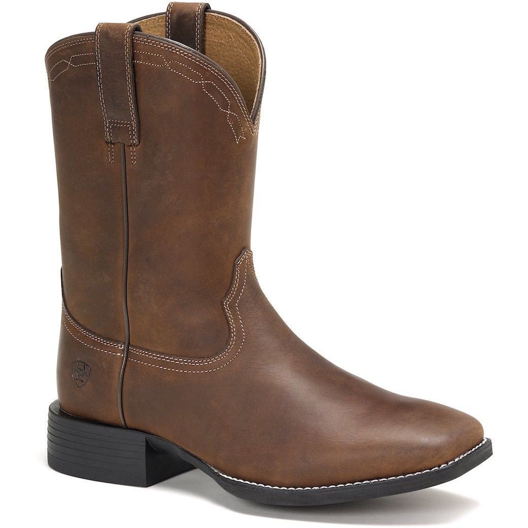 ARIAT MENS HERITAGE ROPER SQUARE TOE