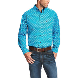 ARIAT MENS LAKETON PRINT SHIRT