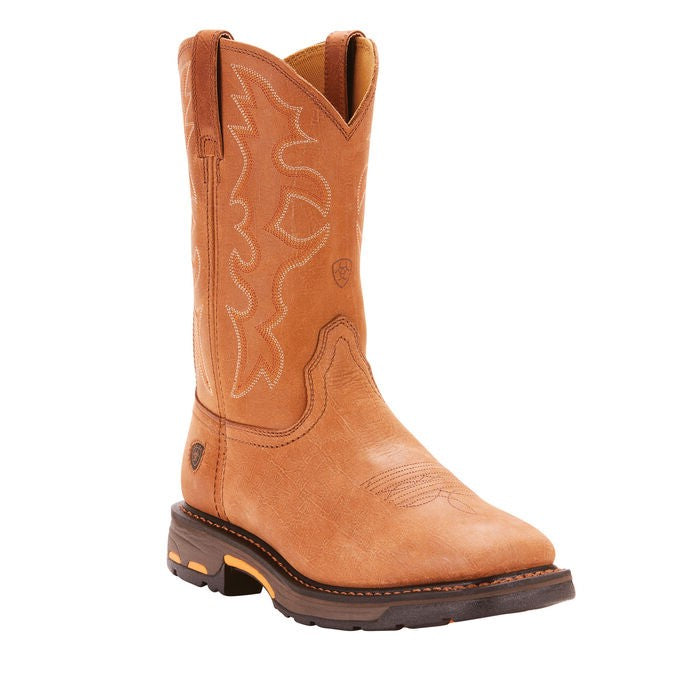 ARIAT MENS WORKHOG SQUARE STEEL TOE H2O