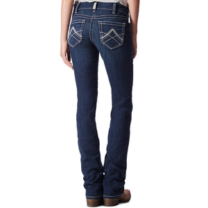 ARIAT WOMENS R.E.A.L. ICON OCEAN STRAIGHT LEG JEANS
