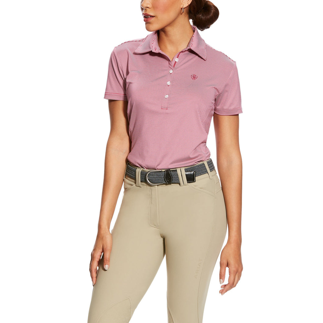 ARIAT WOMENS TALENT ROSE POLO SHIRT