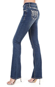 GRACE IN LA AZTEC BLING JEANS
