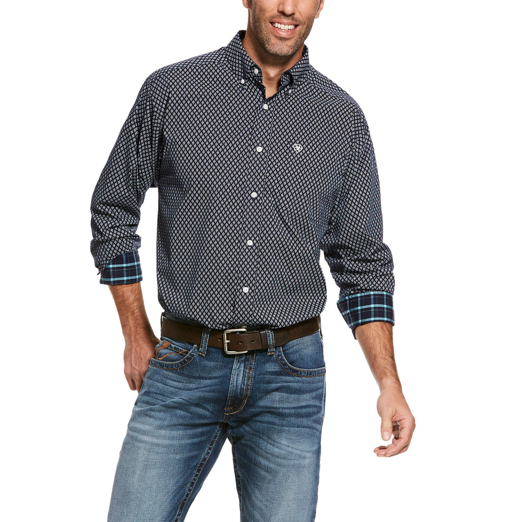 ARIAT MENS WRINKLE FREE WALBECK SHIRT
