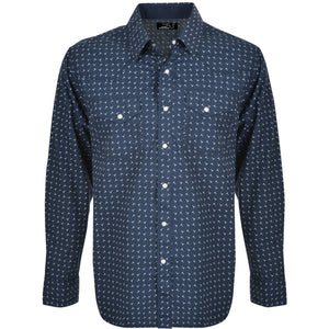 PURE WESTERN MENS ANTHONY PRINT LONG SLEEVE SHIRT