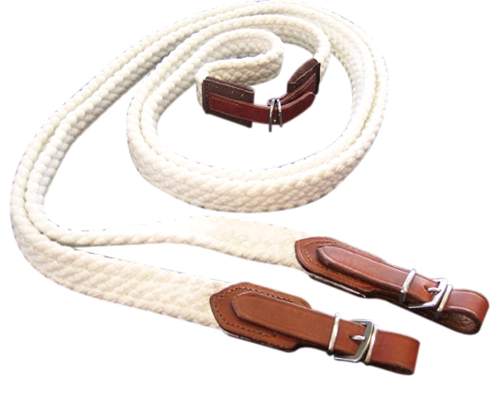 RED CENTRE STAINLESS STEEL COTTON REINS