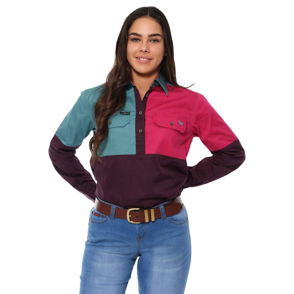 RINGERS WESTERN WOMENS DAKOTA SPLICED SHIRT