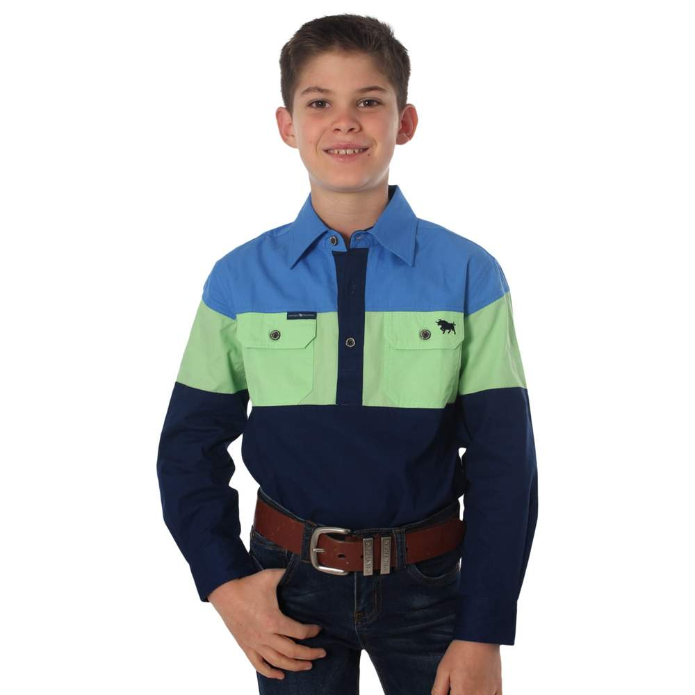 RINGERS WESTERN KIDS ROCKY SPLICED SHIRT