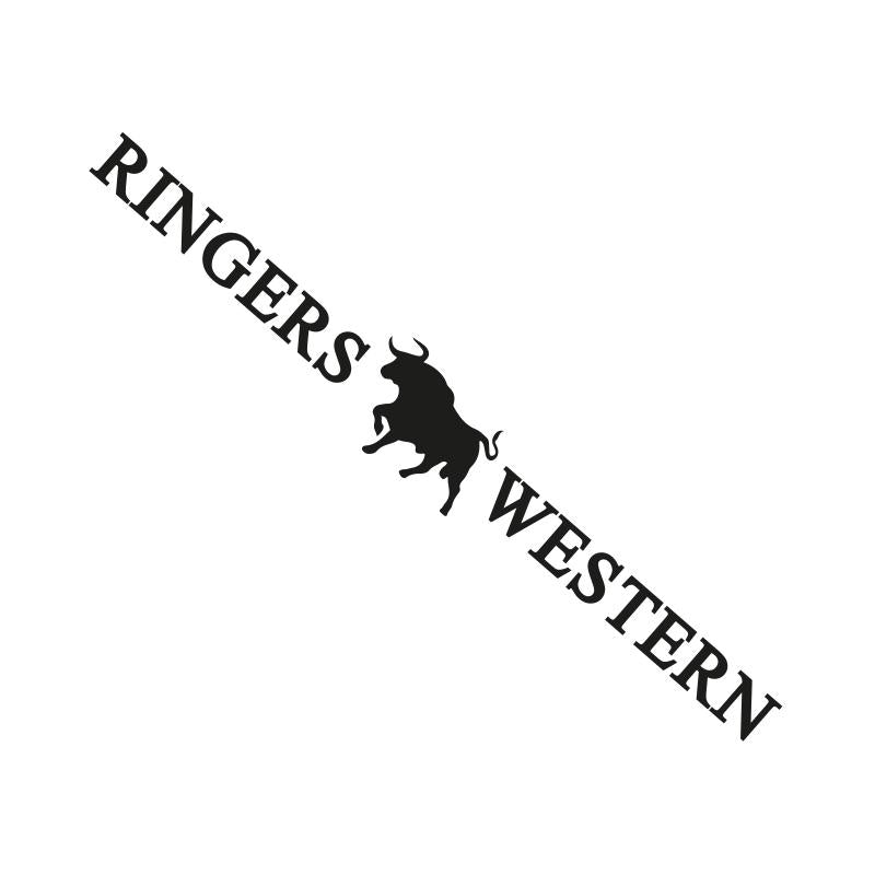RINGERS WESTERN LARGE LONG DIE CUT STICKER