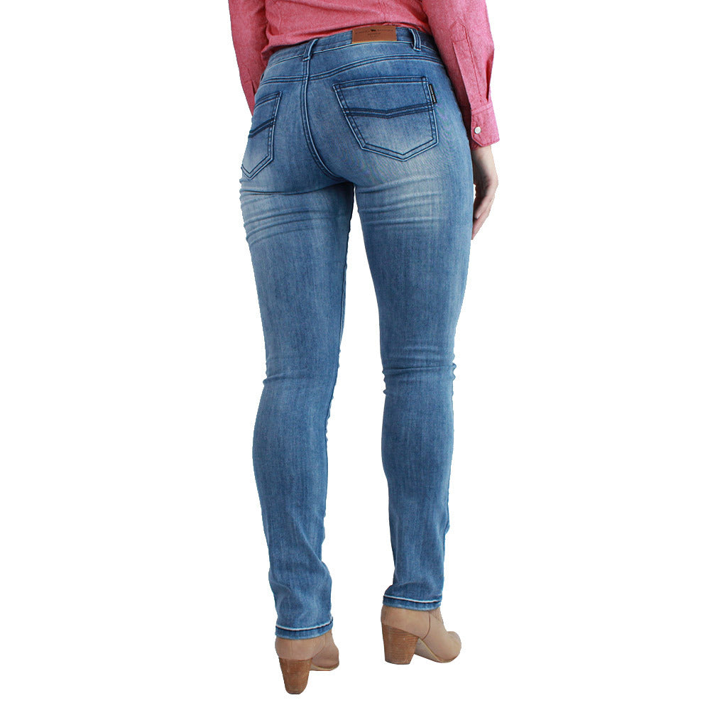 RINGERS WESTERN VICTORIA MID RISE STRAIGHT JEANS