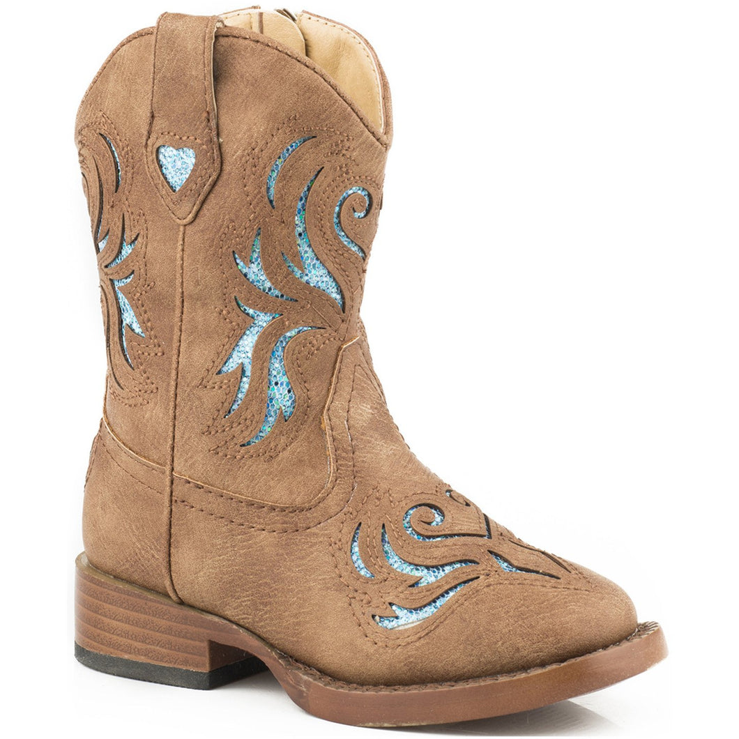 ROPER KIDS GLITTER BREEZE BOOTS
