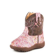Load image into Gallery viewer, ROPER INFANT COWBABIES GLITTER AZTEC BOOTS