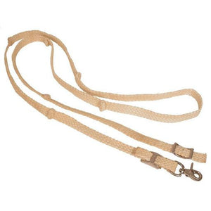WAXED KNOTTED BARREL REINS